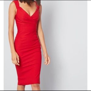 Modcloth Rock Steady Lady Love Song Pin-up Dress